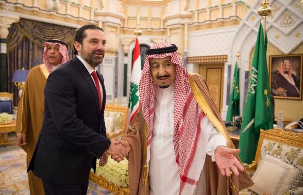 Saudi Arabia's King Salman met with  Lebanese PM Saad al-Hariri in Riyadh  ,Dalati Nohra