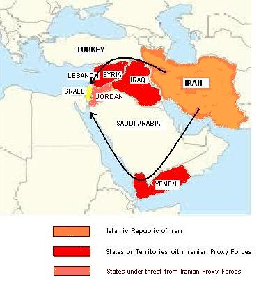Iran proxy forces map