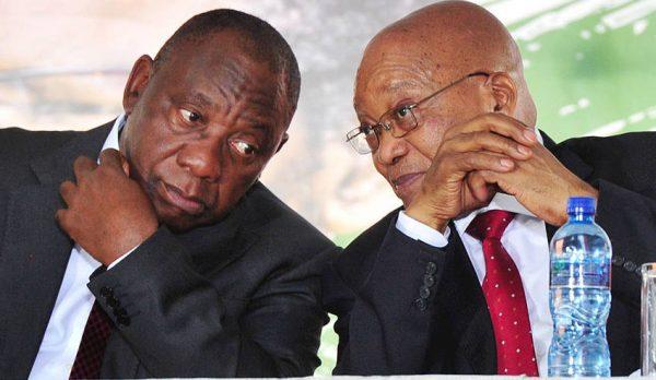 Deputy President Cyril Ramaphosa  (L) and embattled president Dlamini-Zuma