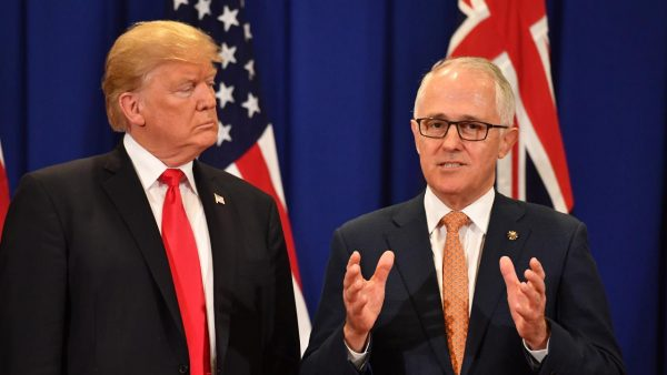 US President Donald Trump and Australia's Prime Minister Malcolm Turnbull in a file photo