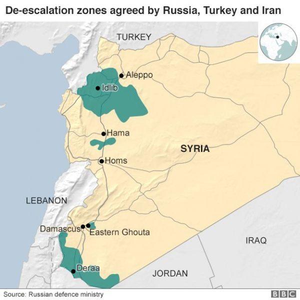 syria map idlib Ghouta