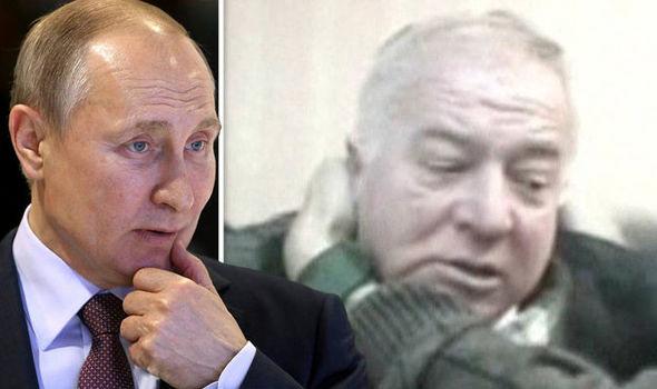 Vladimir Putin and Russian spy Sergei Skripal
