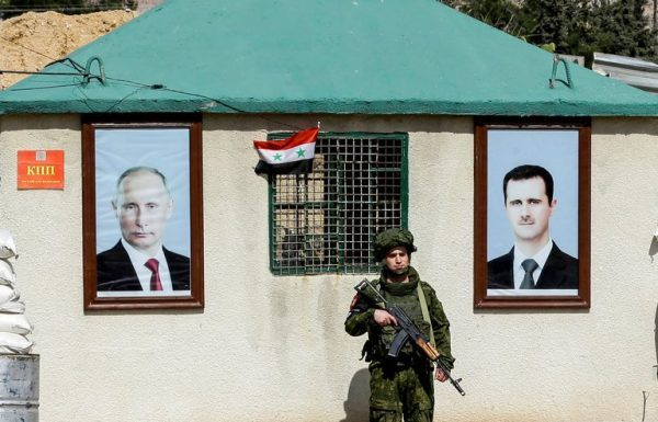 assad, putin portraits