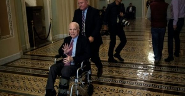 Despite being in the same party as the president, Senator John McCain -- pictured on Capitol Hill in December 2017 -- has been one of Donald Trump's most forceful critics