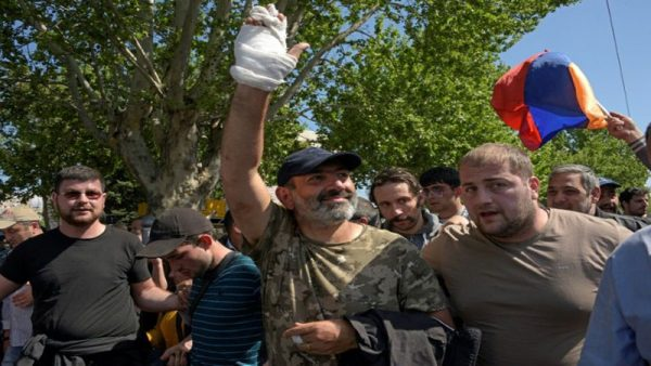 Armenia's opposition lawmaker Nikol Pashinyan   led the mass anti-government protests that culminated with the resignation of newly appointed Prime Minister Serzh Sarkisian