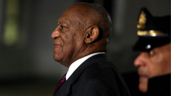 Bill Cosby departs the Montgomery County Courthouse in Norristown, Pa., on Wednesday. Jacqueline Larma/AP