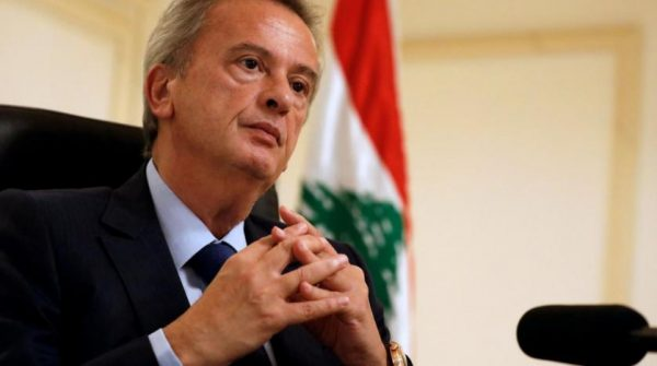 FILE PHOTO: Lebanon's Central Bank Governor Riad Salameh speaks during an interview with Reuters at his office in Central Bank in Beirut, Lebanon October 24, 2017. REUTERS/Jamal Saidi/File Photo