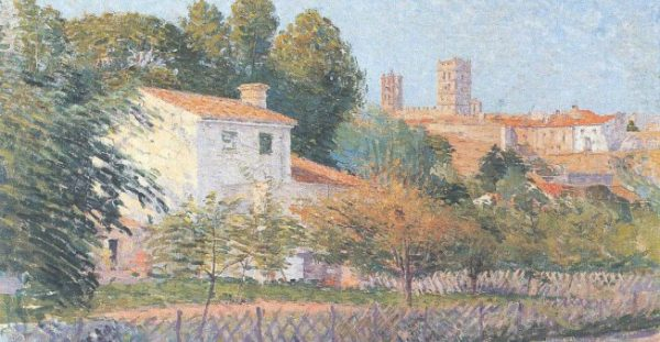 "Étienne Terrus, Wikimedia Commons | The painting ""View of Elne"" by Étienne Terrus"