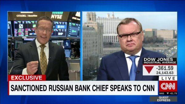 CNN interviw russian banker