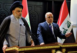 """Shiite cleric Muqtada al-Sadr, has sought to reassure Iraqis that  the next government will be """"inclusive"""" and mindful of their needs. Saturday night, he met Prime Minister Haider al-Abadi"""
