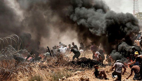 At least 120 Palestinians have died and thousands been injured in the Gaza Strip in the past 2 months , as Palestinians marched demanding the right to return to their homeland