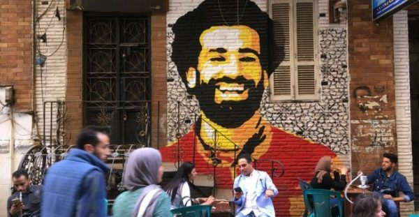 Egyptians rage against Sergio Ramos after Mohamed Salah's injury.  Salah's  image  is omnipresent on the streets of Cairo. AFP