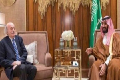 Progressive Socialist Party leader Walid Jumblatt held talks with Saudi Arabia's powerful Crown prince Mohammed bin Salman