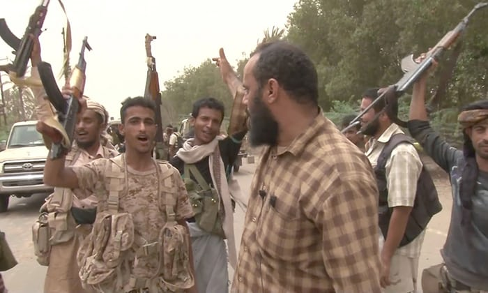 saudi backed forces free Hodeidah airort