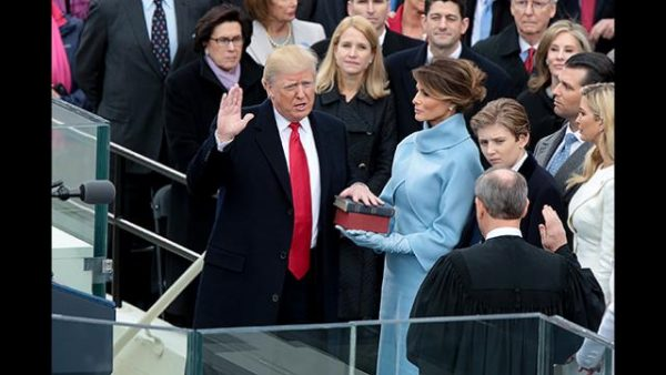 President Trump wanted to use a copy of his book instead of the Bible during his swearing-in ceremony.