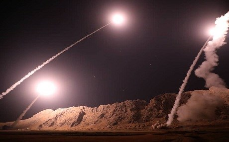 iran missiles fired at syria