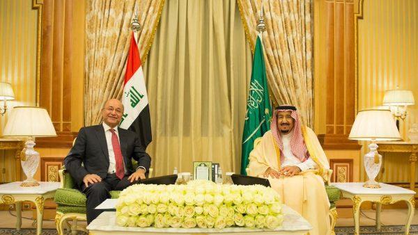 King Salman president Barham Salih