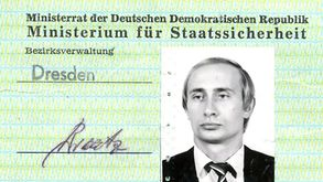 An old ID of Russia President Vladimir Putin, when he was working as a KGB spy in East Germany , has been found.
