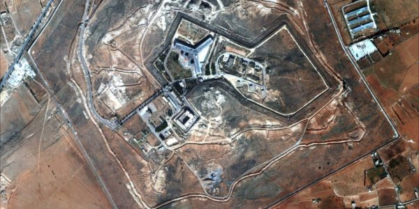A satellite view of Sednaya Prison near Damascus (DigitalGlobe)