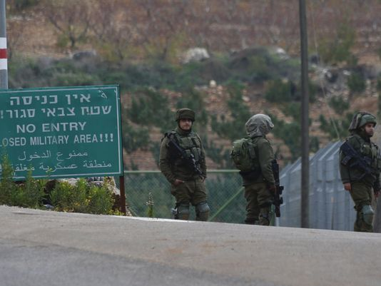 lebanon israel border sign