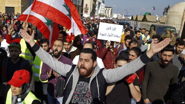 Lebanon protests: Yellow Vest protests spread as Lebanese citizens demand better living standards (Image: REUTERS)