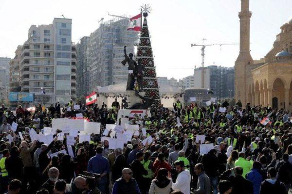 lebanese on strike