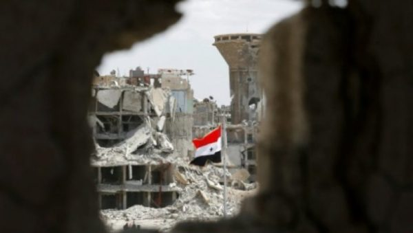 syria damascus rocked by bomb