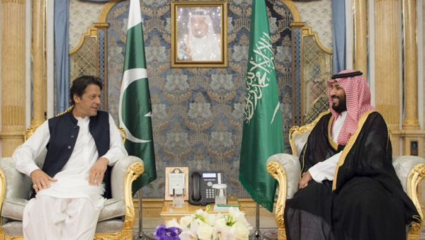 Handout / CIC / AFP | File photo of Saudi Crown Prince Mohammed bin Salman meeting Pakistani Prime Minister Imran Khan in Jeddah in Sept. 2018.