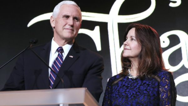 Vice President Mike Pence and  his wife Karen Pence in a file photo
