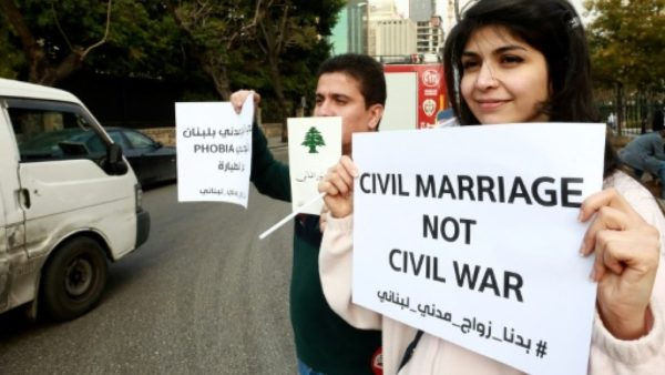 Many Lebanese couples travel to neighbouring Cyprus to tie the knot in a civil ceremony AFP