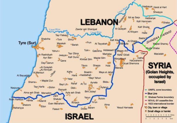 lebanon map chebaa kfar chuba, Golan