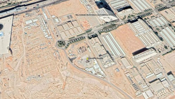 Google Earth   The location of Saudi Arabia's first nuclear reactor, currently under construction in the outskirts of Riyadh.