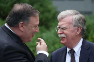 Mike Pompeo and  John Bolton