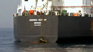US officials belive Iran was involved in the attack against the Saudi tankers