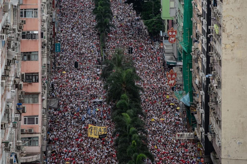 hong kong protest million