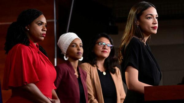 Erin Scott, REUTERS   US Representatives Ayanna Pressley, Ilhan Omar, Rashida Tlaib and Alexandria Ocasio-Cortez hold a news conference on Capitol Hill in Washington D.C. on July 15, 2019