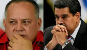 Diosdado Cabello (L) is considered the most powerful man in Venezuela after Maduro R