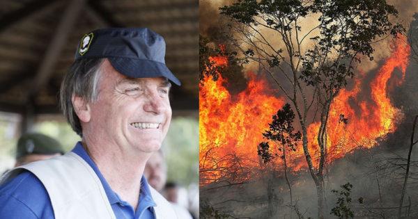 Brazil president Jair Bolsonaro blames NGOs for setting Amazon on fire