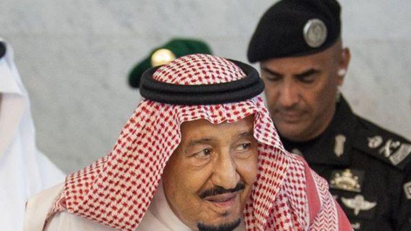Gen Fagham (behind the Saudi king) was well-known in Saudi Arabia