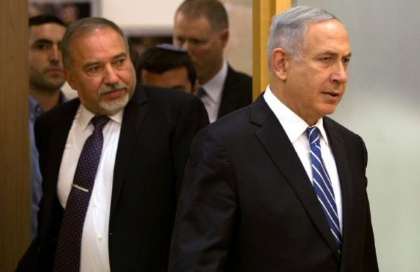 Former defence minister Avigdor Lieberman (L) has gained in popularity since April's election which saw Netanyahu (R) fail to put together a coalition Former defence minister Avigdor Lieberman (L) has gained in popularity since April's election which saw Netanyahu (R) fail to put together a coalition (AFP Photo/MENAHEM KAHANA)