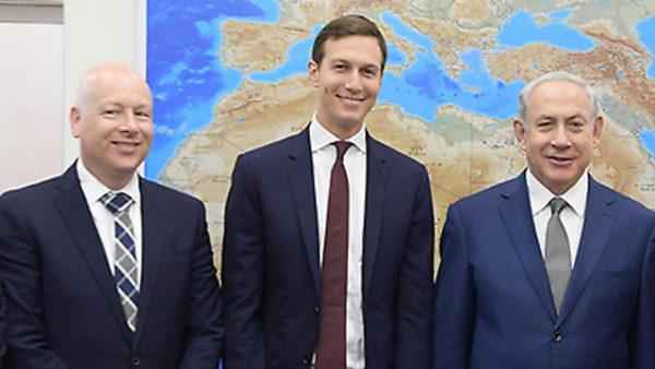 Israeli Prime Minister Netanyahu With Jared Kushner And Jason Greenblatt