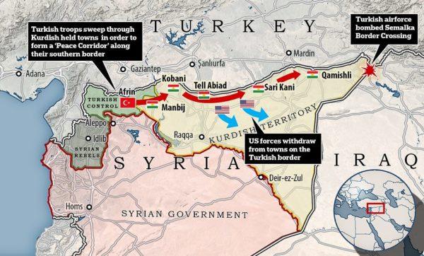 MAP TURKIEY ATTACKS KURDS