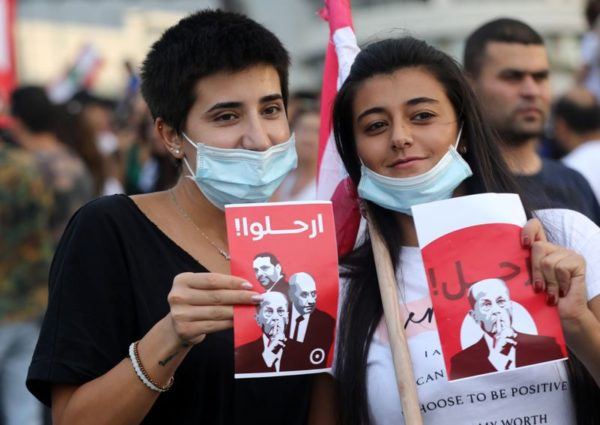 Get out Lebanese protesters tell the top 3 leaders of Lebanon