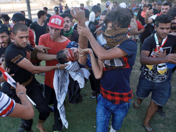 While in Lebanon the army has been protecting the protesters but in Iraq the security forces have been shooting at  protesters.  The Iraqi government admitted  Tuesday that its  security forces killed 149 people and wounded over 3,000 in protests that began Oct. 1,