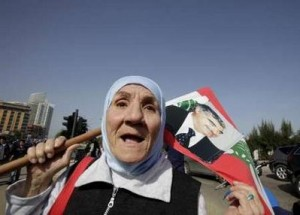 A Lebanese supporter of assassinated former Prime Minister Rafik al-Hariri shouts slogans
