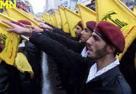 A parade by the Iranian backed Lebanese Shiite Hezbollah militia.