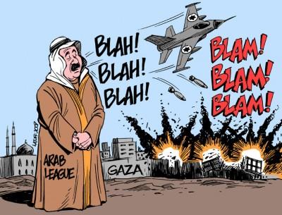 The Arab league blah blah cartoon