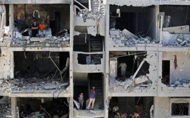 gaza rubble of house