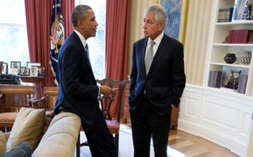 hagel , obama war room