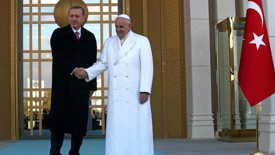 pope francis erdogan
